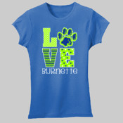 LOVE - 2616 LAT Girls' Fine Jersey T-Shirt