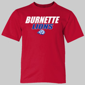 Burnette Lions - 990B Anvil Youth Lightweight T-Shirt