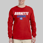 Burnette Lions -  4930 Fruit of the Loom Adult 5oz. 100% Heavy Cotton HD™ Long-Sleeve T-Shirt
