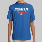 Burnette Lions - NB3142 A4 Youth Shorts Sleeve Cooling Performance Crew Shirt