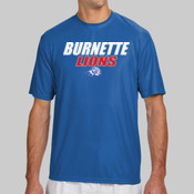 Burnette Lions - N3142 A4 Short-Sleeve Cooling Performance Crew Neck T-Shirt
