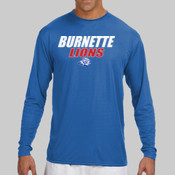 Burnette Lions - N3165 A4 Long-Sleeve Cooling Performance Crew Neck T-Shirt